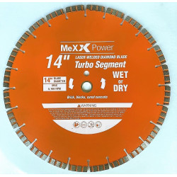 14 Inch Laser Welded Turbo Segment Diamond Blade