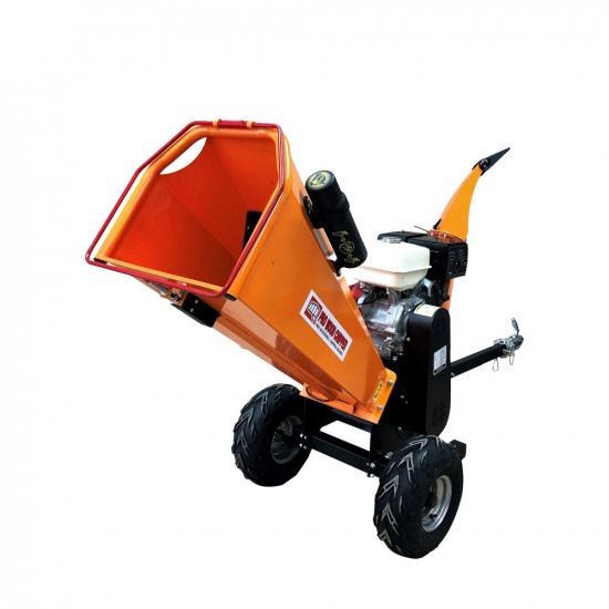 "5"" inch 13HP Honda GX390 Commercial Cyclonic Chipper Shredder Towable Gas-Powered Self-Feeding"