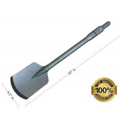 "4.5""X 22"" Clay Spade Shovel Chisel Bit for Demolition Hammers, Alloy Steel 