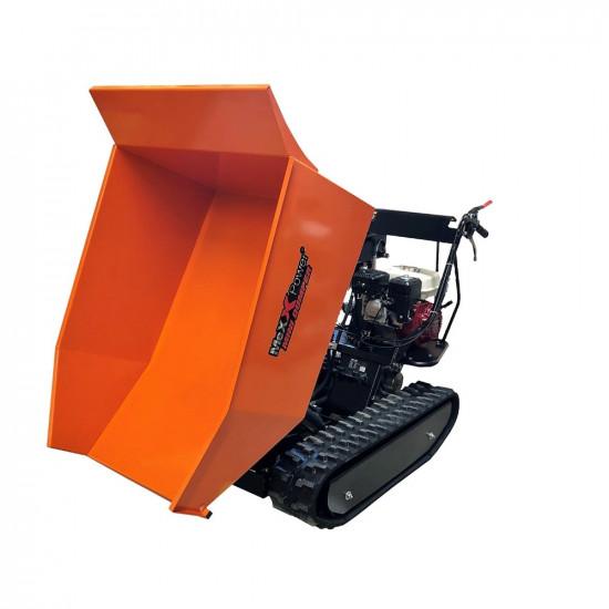 Honda GX200 Hydraulic Tip Track Dumper 1/2 Ton Load Capacity Gas power Wheelbarrow