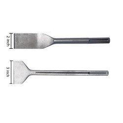2 PIECE - SDS-MAX DEMOLITION FLAT CHISEL AND TILE CHISEL SET FOR SDS MAX ROTARY HAMMER