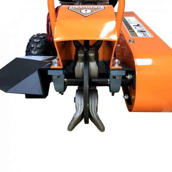 Honda GX390 Stump Grinder 13HP  Gas Powered Certified Commercial  Adjustable Bow Handle Walk Behind